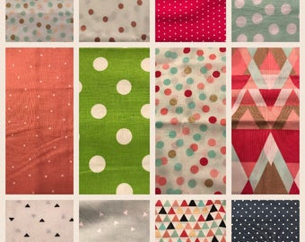 Dots&Triangle Fabric Options