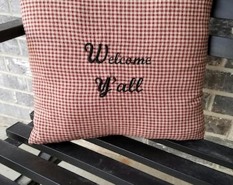 Personalized Embroidered Pillow Covers