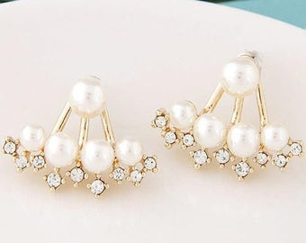 Immy - Statement earrings with pearls