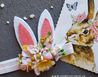 Felt Bunny Ear Headband - Toddler Headband - Baby Headband - Rabbit Ears Headband - Baby Girl Headband - Easter headband