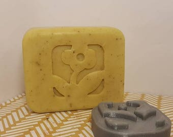 Inverse Flower Soap Stamp - no handle needed - footprint 30mm x 30mm