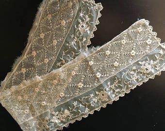 Antique French Lace, Victorian Vintage Lace, Antique Lace Trim, Handmade Old Lace, French Linen Lace, Antique Lace, Vintage Lace Trim