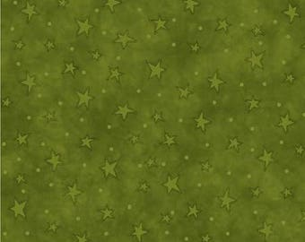 Green Starry Basic // Quilters Cotton