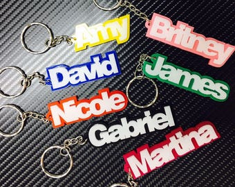 Personalized Name Keychain School Bag Tag (Buy 4 Get 1 FREE)