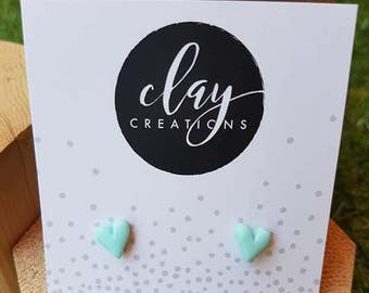 Heart Earrings - Minty Fresh