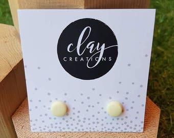 Circle Earrings - Lemon Tang