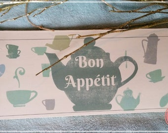 BON APPETIT decorative plate