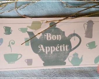 Decorative plate BON APPETIT