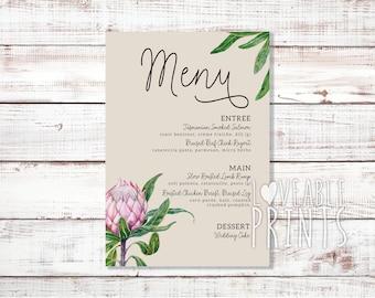 Custom Wedding Menu | Printed Menu | Personalised Menu | Wedding Menu Cards