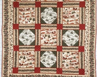 """Winter Traditions Quilt Top only 46"""" x 51"""""""