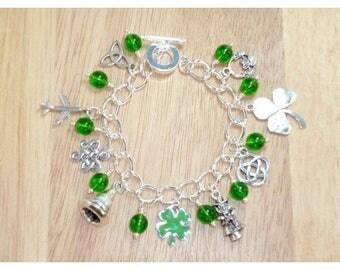 St Patrick's Day Charm Bracelet