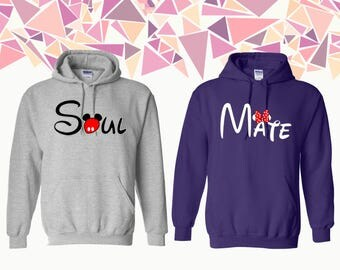Soul Mate Hooded Sweatshirt Soul Mate Sweater Soul Mate Couple Hoodie Couple Hoded Sweatshirt Couple Sweater Gift For Couple