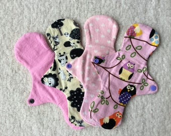 Soft reusable washable cloth sanitary pad
