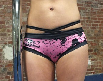 Pole Crush Cheeky Pants for Pole Dancing/Fitness, Yoga, Gym & Running