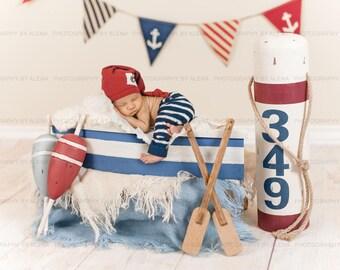 Newborn Photography Sailor/Nautical Digital Backdrop Prop