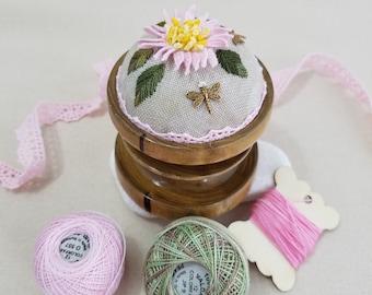 Pond Lily - Handmade Pincushion