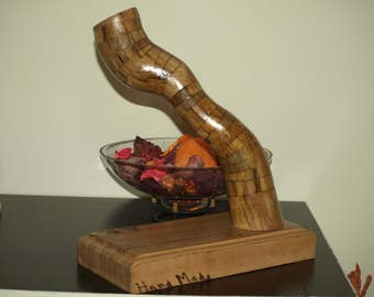 "Modern art ,sculpture abstract in wood  ""Twister"""