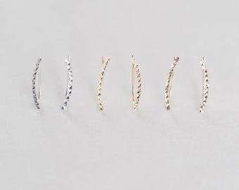 Eve Ear Pin Earrings (3 colors)