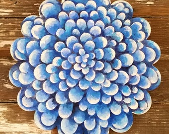 Impossible Blue Flower