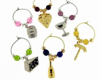 Wine Charms Drink Charms, Wine Glass Chamrs