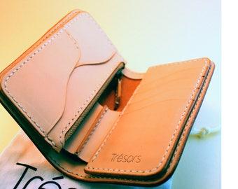 Leather Wallet Handmade Medium