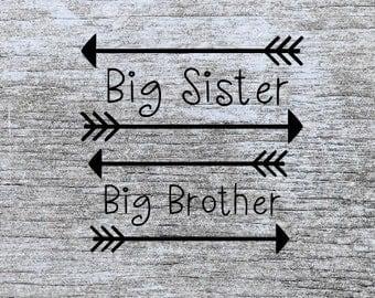 big brother svg | big sister svg | sibling svg | pregnancy announcement svg | svg files | svg cutting files