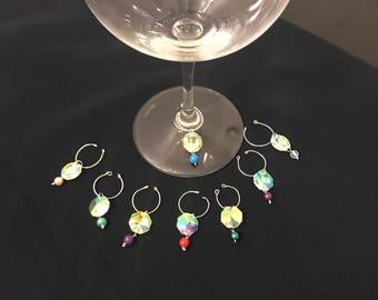 Aurora Stone Wine Glass Charms