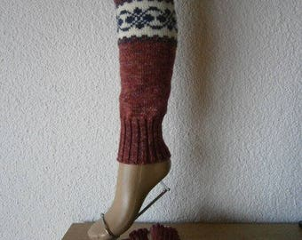 Leg warmers with pattern block
