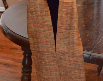 Handwoven rayon scarf - 72 in x 5.5 in