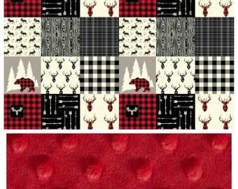 Quilt pattern, custom deer baby, toddler, adult blanket