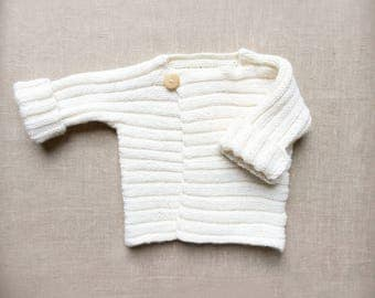 Hand knitted sweater for boys and girls-unisex baby sweather