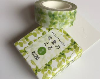 Green Leaf Washi Tape