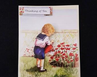 Handmade Traditional Decoupage Greetings Card