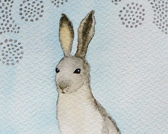 The white hare, card