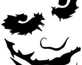 Joker The Dark Knight Batman Horror Vinyl Car Decal Bumper Window Sticker Any Color Multiple Sizes
