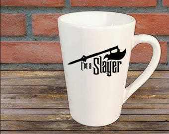 I'm a Slayer Buffy the Vampire Slayer Horror Mug Coffee Cup Halloween Gift Home Decor Kitchen Bar Gift for Her Him