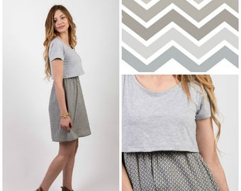 Geometry nursing dress