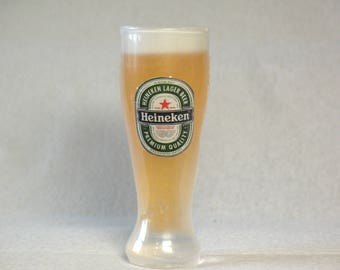 Glass of beer Soap Heineken Soap foam gift for father Souvenir soap present to man unusual soap form 3 D