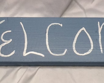 Coat/Hat/Scarf Rack - Welcome Sign
