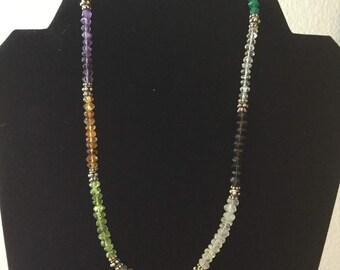 Vintage Sterling gemstone necklace