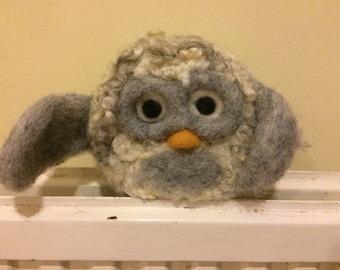 Needle felt large owl