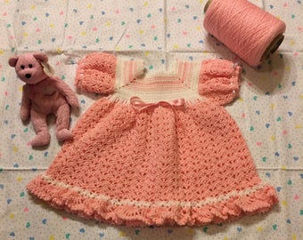 Pretty in Pink! Baby Girl Handmade Dress
