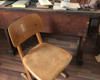 Vintage baby chair school Chair