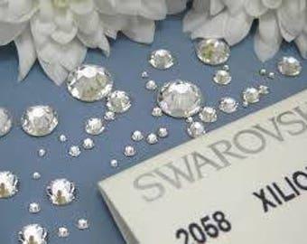 Swarovski crystals flat back stones gems rhinestones non hotfix 500 piece crystal clear ss 1.3mm