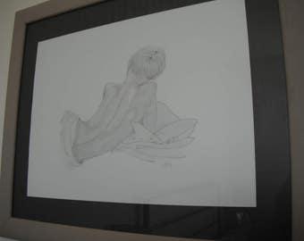 A3 pencil art