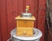 Vintage Touch- Coffe Grinder- Wooden Coffe Grinder- Kitchen Decoration