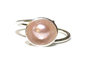 Adjustable Freshwater Pearl Ring (Colour Options)