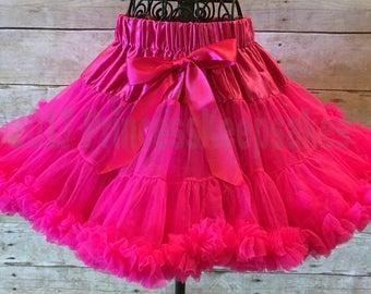 Hot Pink Pettiskirt, Hot Pink Skirt, Toddler Pettiskirt, Ruffled Skirt, Princess Aurora