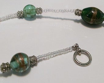 Green, Gold, and White Necklace