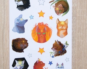 WARRIORS cats Leaders - sticker sheet